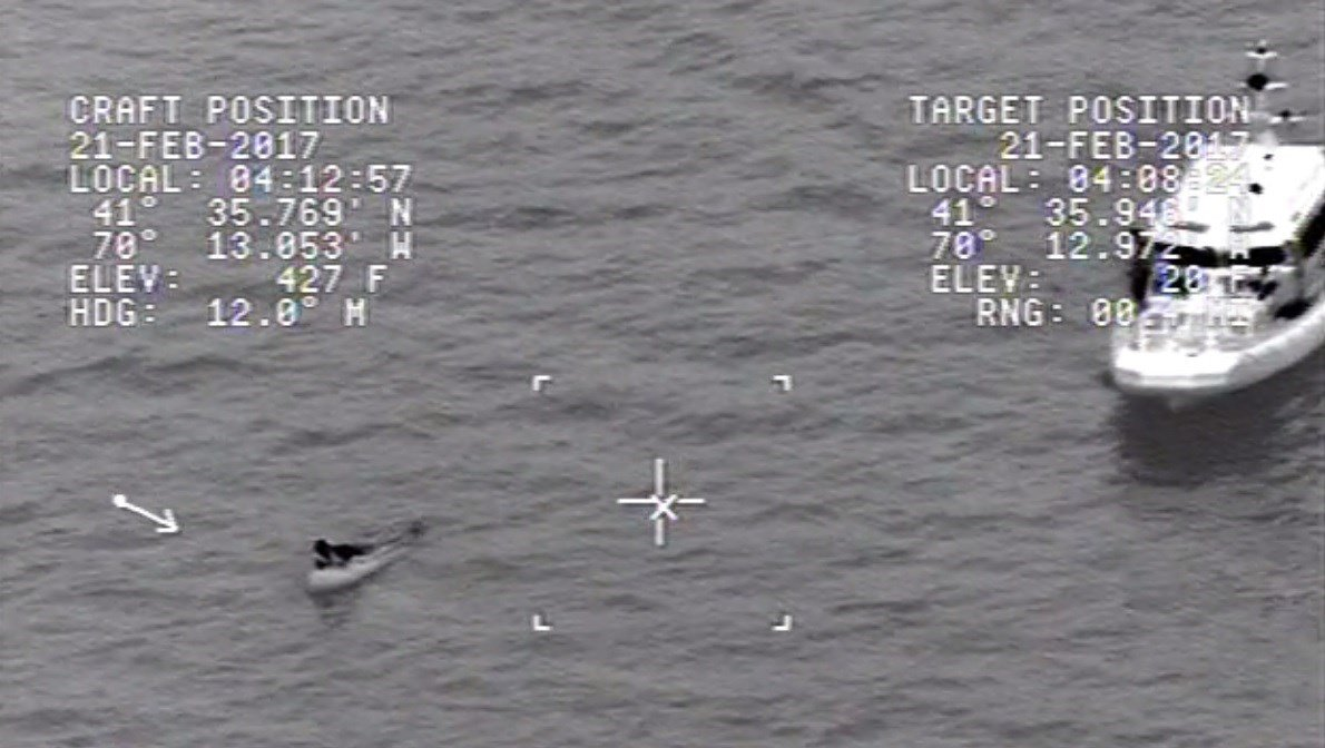 Coast Guard rescue man held on to boat for 12 hours