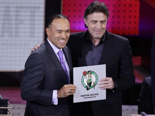 Celtics win draft lottery; Lakers get No. 2 pick
