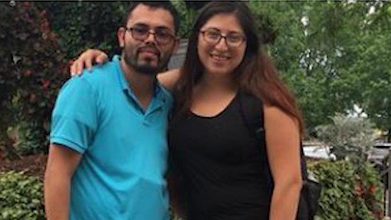 Lilian Calderon and her husband Luis Gordillo