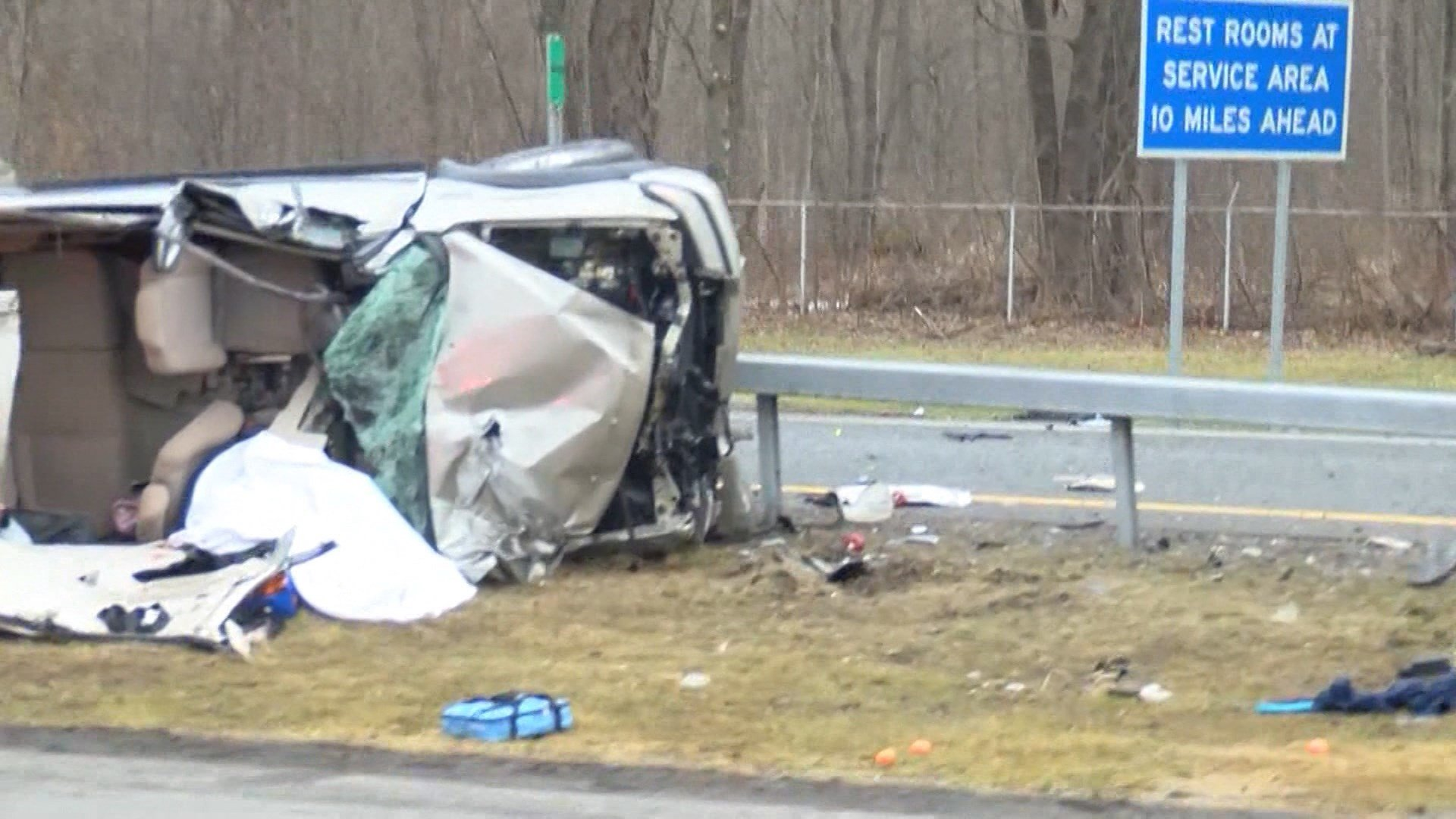 MA residents killed in rollover crash in upstate NY