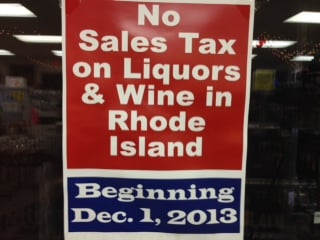 Liquor and wine now tax free in Rhode Island