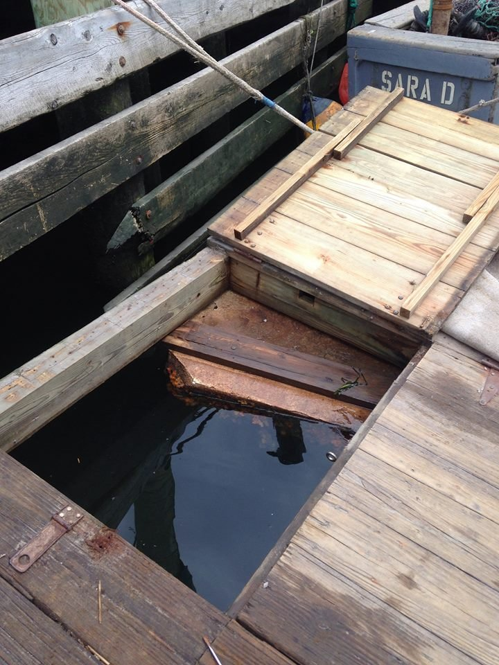 Lobsters were stolen from a crate on this dock in Wickford