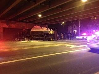 Tractor Trailer Slams Into Bridge In Providence