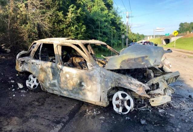 Fiery crash leaves driver injured and hundreds to lose power