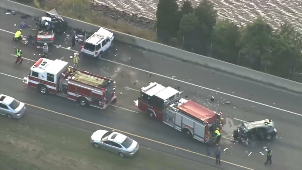 Serious accident on I-95 South in Attleboro injures three - ABC6