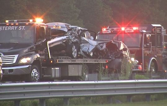 Madison : Accident on 95 north attleboro today